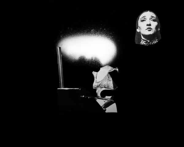 Film still; Sitting with Clara Rockmore, 2017 Single channel video installation, optical theremin, projector 4 min